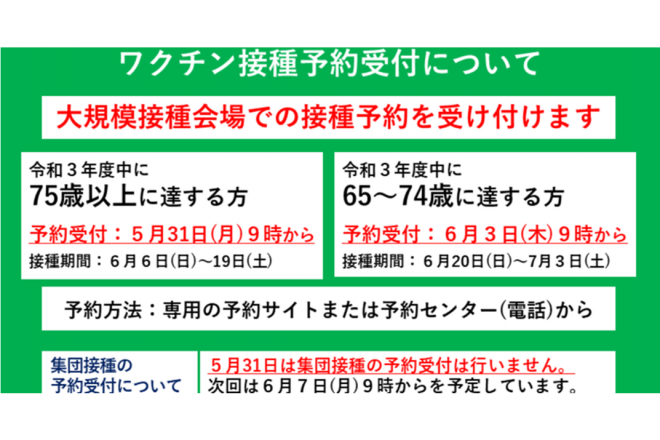 まとめてみました。ワクチン最新情報(横浜市)!